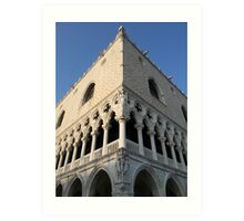 Two Faces of Doge Palace Art Print