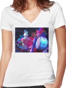 Clown parade Women's Fitted V-Neck T-Shirt