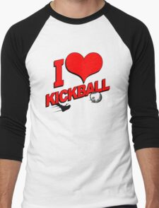 I Love Kickball Men's Baseball ¾ T-Shirt