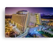 Contemporary Resort from Bay Lake Canvas Print