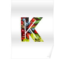 The Letter K - Fruit Poster