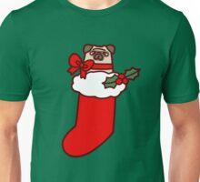Christmas Stocking Pug Unisex T-Shirt