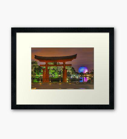 Japan Pavilion in EPCOT Framed Print