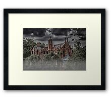 Halloween Haunted Mansion Fog Framed Print