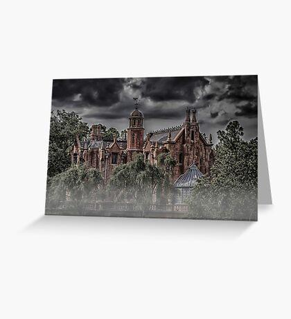 Halloween Haunted Mansion Fog Greeting Card