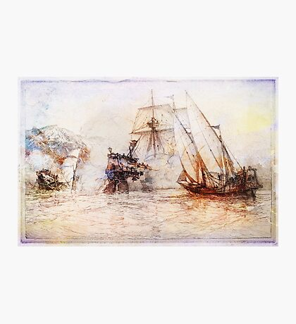Ships In Battle Photographic Print