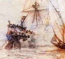 Ships In Battle Sticker