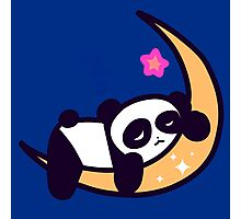 Kawaii Moon Panda Photographic Print