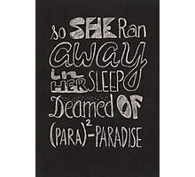Coldplay Paradise Photographic Print