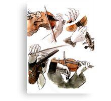 Hands + Violin Canvas Print