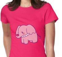 Pretty Pink Elephant Womens Fitted T-Shirt