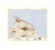 USGS TOPO Map Hawaii HI Hawaii North 349918 1954 250000 Art Print