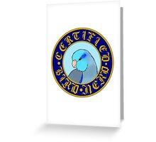 Certified Bird Nerd (Parrotlet blue) Greeting Card