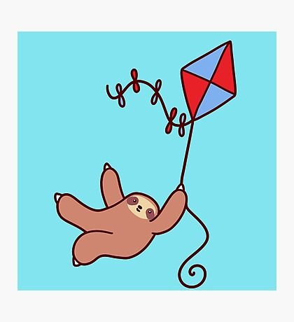 Kite Sloth Photographic Print