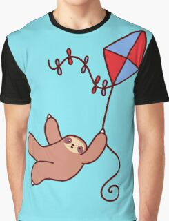 Kite Sloth Graphic T-Shirt