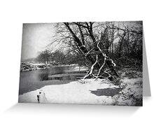 Snowy Stouts Creek Greeting Card