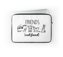 Animal Rights Rescue Friends Not Food Laptop Sleeve