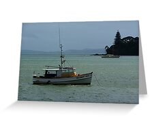 Fishing boat......at the end of the day..........! Greeting Card