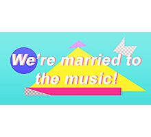 """SHINee """"We're married to the music!"""" Design Photographic Print"""