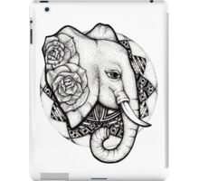 Mandala dot work elephant iPad Case/Skin
