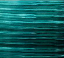 Aqua Waves Photographic Print