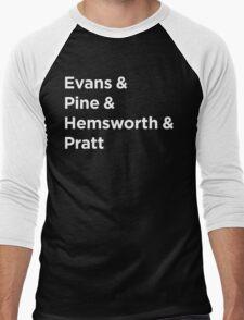 I love all the Chrises - Dark Men's Baseball ¾ T-Shirt