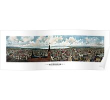 Vintage Panoramic View Of Milwaukee Wisconsin Poster