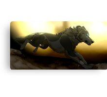 Twilight wolf  Canvas Print