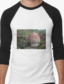 Red and White Toadstool Men's Baseball ¾ T-Shirt