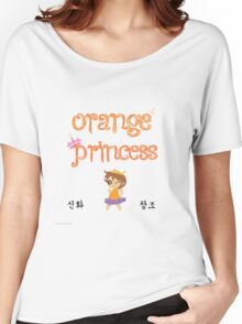 White Orange Princess Women's Relaxed Fit T-Shirt