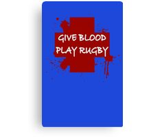 Mens Rugby Canvas Print