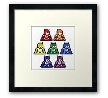 8-Bit Rainbow Colorways Batman Framed Print