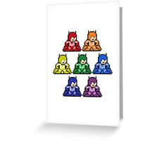 8-Bit Rainbow Colorways Batman Greeting Card