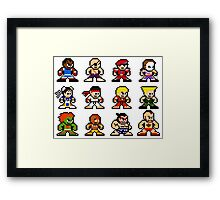 8-Bit Street Fighter 2 Framed Print