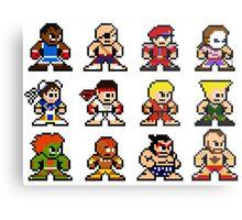 8-Bit Street Fighter 2 Metal Print