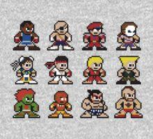 8-Bit Street Fighter 2 One Piece - Long Sleeve