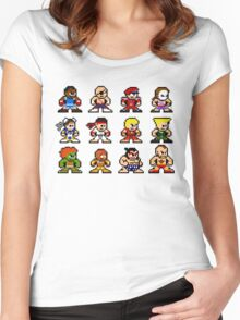 8-Bit Street Fighter 2 Women's Fitted Scoop T-Shirt