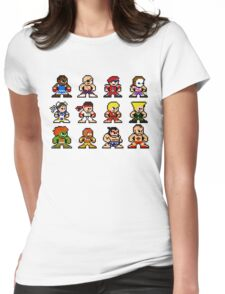 8-Bit Street Fighter 2 Womens Fitted T-Shirt