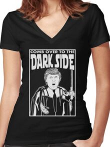 Trump Comb Over Dark Side Women's Fitted V-Neck T-Shirt