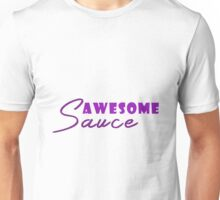 Chic Purple & White Awesome Sauce Unisex T-Shirt