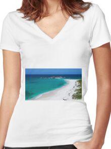 Mudjin Harbour Women's Fitted V-Neck T-Shirt