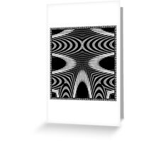 Delicate and Sculptural Black and White Jungle Print Greeting Card