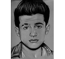 Charlie Puth Pencil Drawing / Art Photographic Print