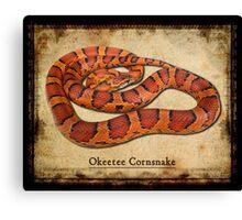 Okeetee Cornsnake Canvas Print