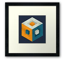 Cubed Cube Framed Print