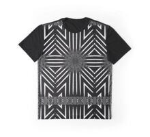 Black and White Target Pattern Zig Zag Lines Graphic T-Shirt