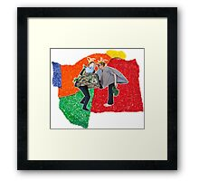 #summercamp (a collaboration with Jake Vogds) Framed Print