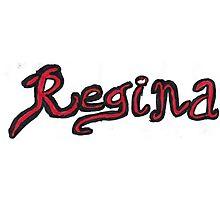 Regina OUAT - Black & Red Photographic Print