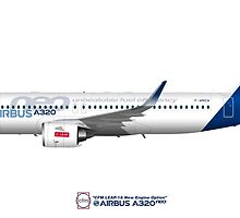 Illustration of Airbus A320 NEO F-WNEW by © Steve H Clark