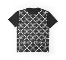 Celtic Pattern Diamonds and Crosses Black and White Graphic T-Shirt